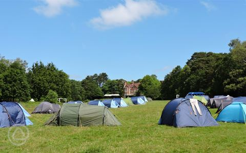 Camping at Avon Tyrrell