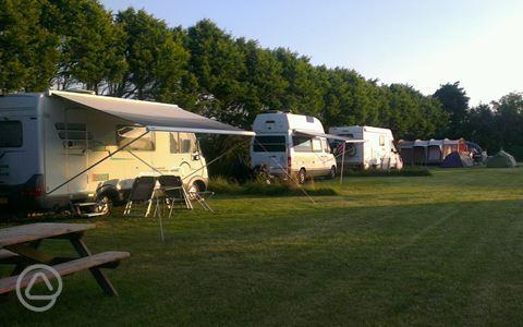 Simple Caravan For Hire At Praa Sands Holiday Park Penzance UK Caravan Rental