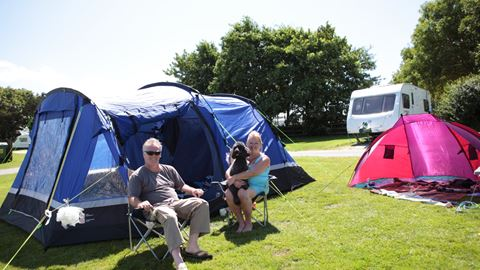 Camping and touring at Trevella Park