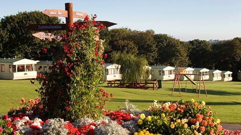 Static caravans and award-winning flower displays