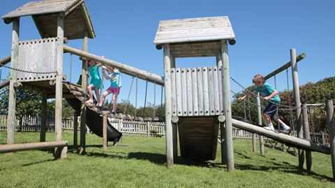 Trevella Park has an adventure playground, pictured, plus a second playground with slides and swings for younger children
