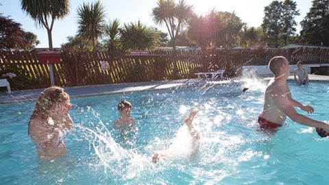 Heated outdoor swimming pool, open from May half term to mid September