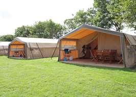 Trevella Park Newquay Cornwall & Safari tents on the South Coast