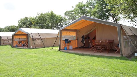 Safari tents and Trevella Park