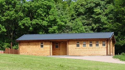 The Timber Lodge Toilet and Shower Block with Laundry and Disabled facilties