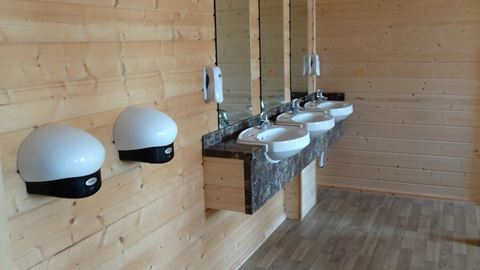 Clean and modern Bathroom fittings at Riddings Wood Caravan and Camping Park