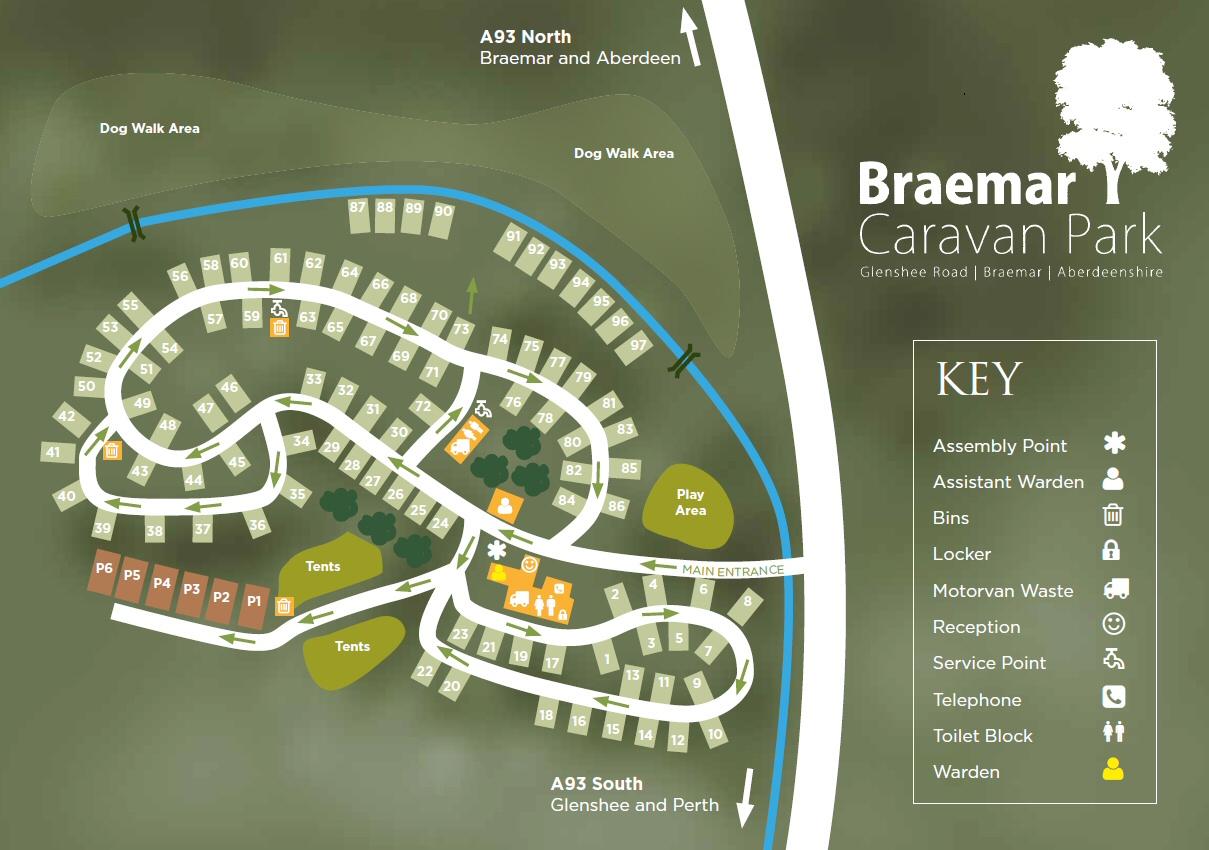 Braemar Caravan Park In Ballater Aberdeenshire